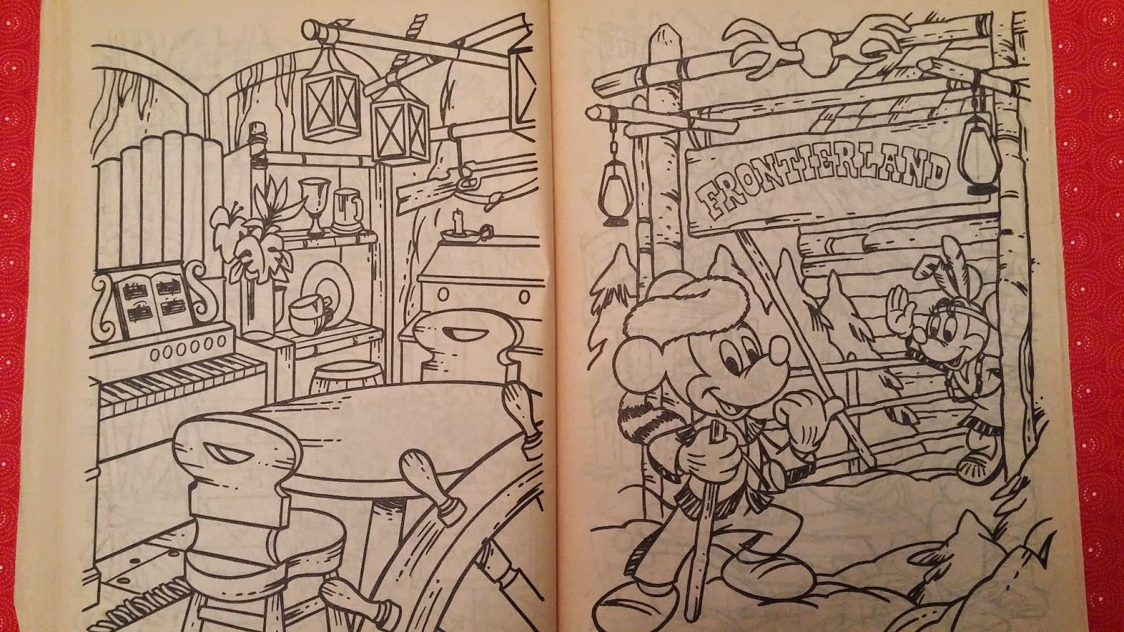 Walt Disney World A Coloring Book Frontierland 1983