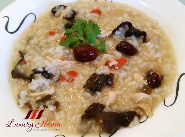 nutritious tang kwei chicken fungus porridge