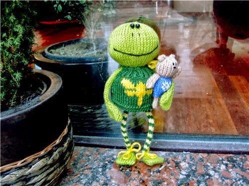 Patrón de Una rana en tricot