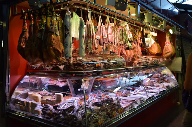 jambon charcuterie espagne barcelone marché