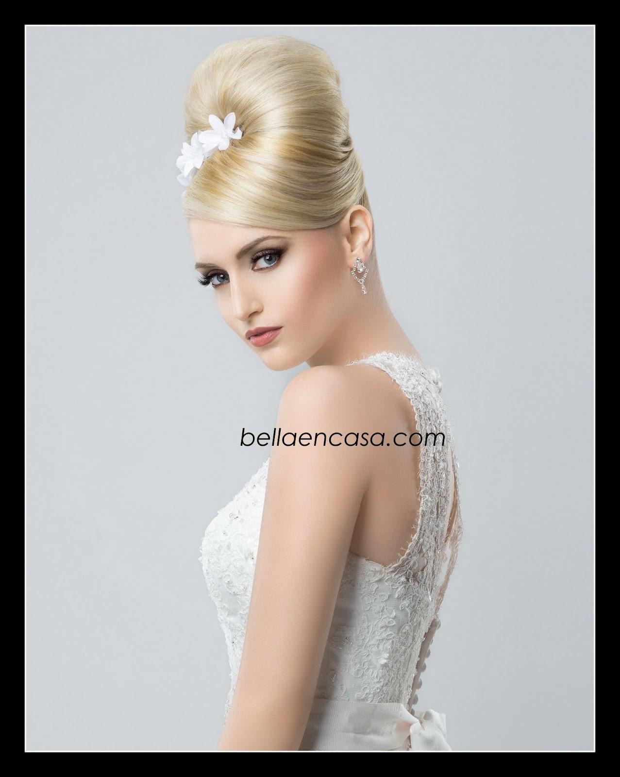 Peinado para novia sencillo belleza y peinados peinado de novia recogido alto paso a paso bella - Lo ultimo en peinados de novia ...