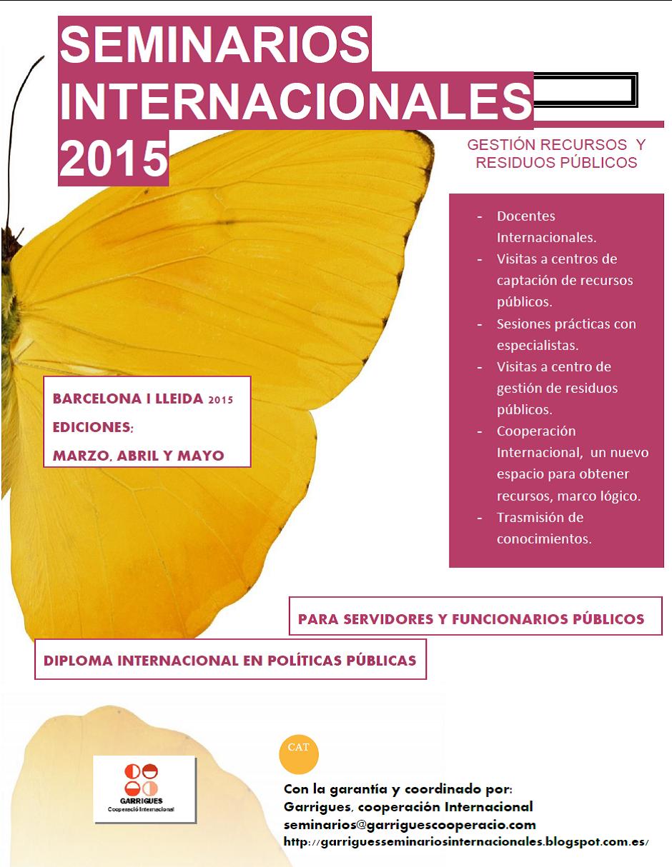 SEMINARIOS INTERNACIONALES 2015