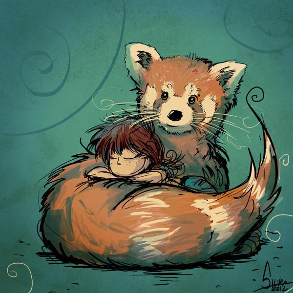 Silver panda roux - Panda roux dessin ...