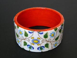 biżuteria decoupage - kaszubski komplet (bransoleta)
