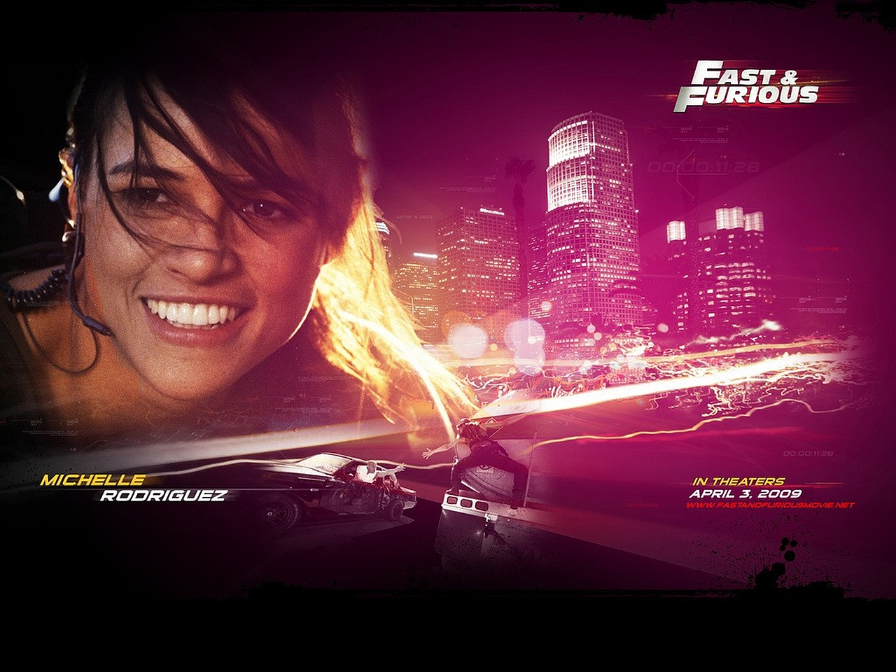 Wallpaper HD Michelle Rodrigues Fast And Furious 7