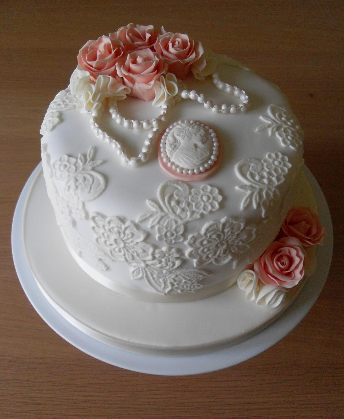 Vintage Lace Birthday Cake