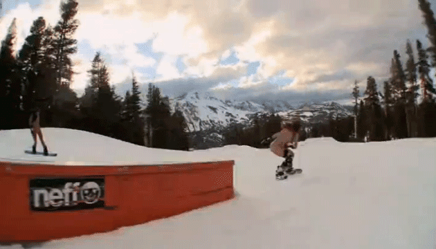 Snowboarder chick loves cock - 1 4