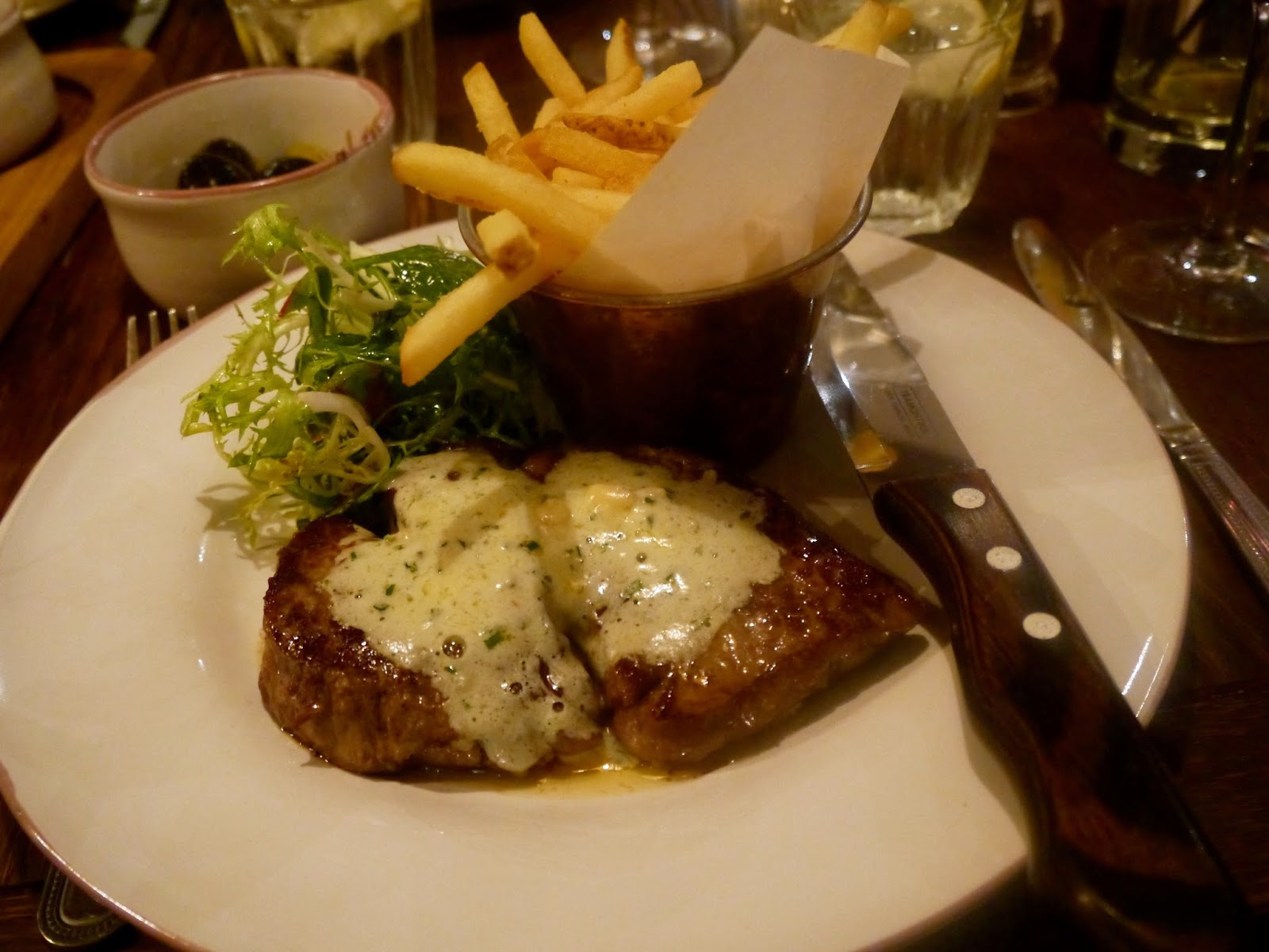Rib Eye Steak, Le Bistrot Pierre Cardiff