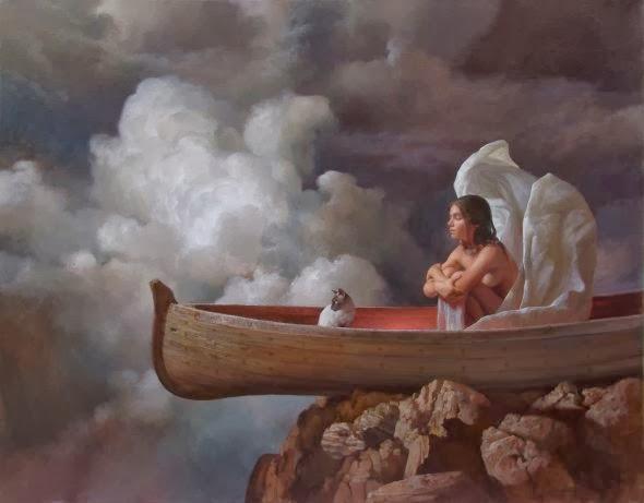 Ricardo Fernández Ortega pinturas estilo clássico realista surreal onírico mulheres