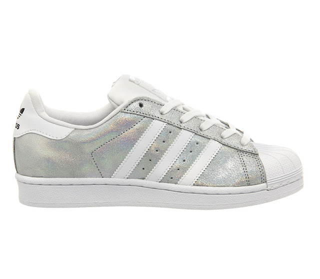 adidas silver trainers, adidas superstar trainers, adidas holograph trainers,