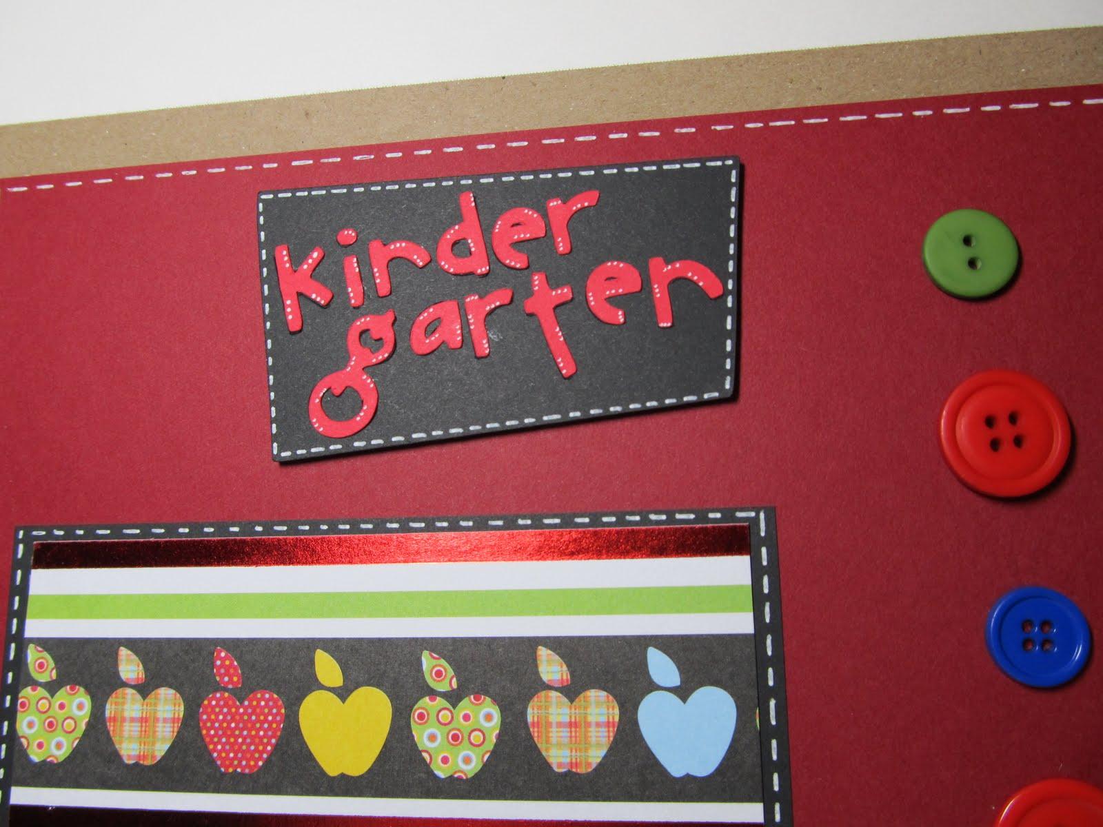 Scrapbook ideas kindergarten -  Kindergarten Scrapbook Layout