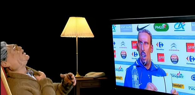 Franck Ribéry a tué Maître Capello aux guignols