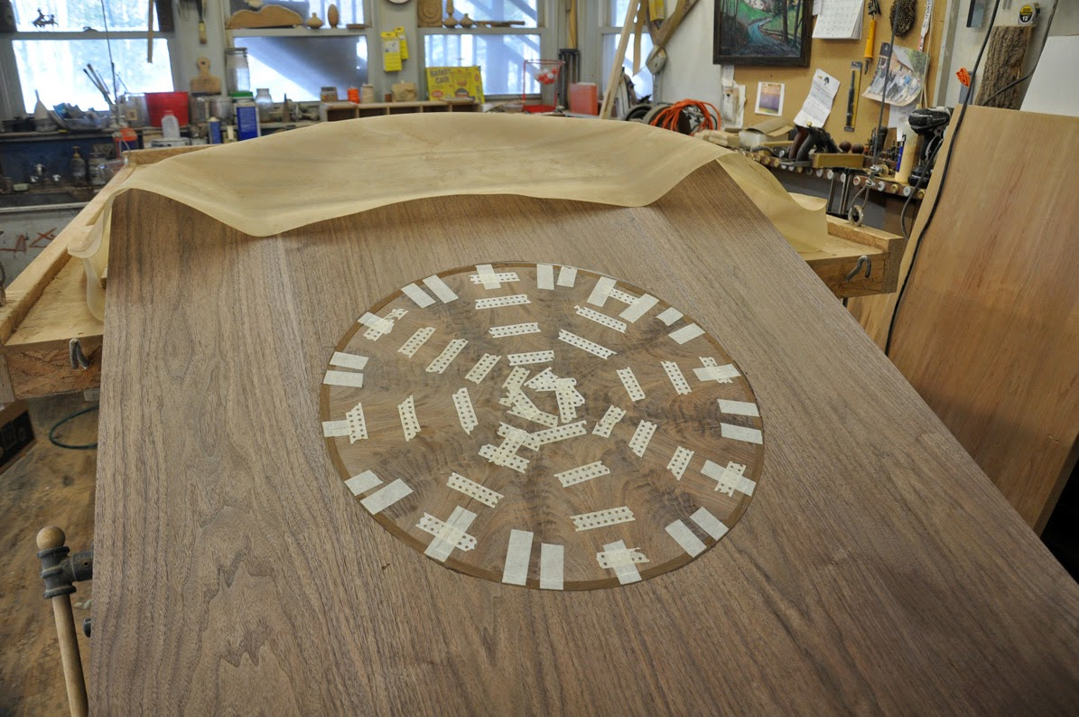 And Here Is The Inlay, Early In The Process, Before It Was Routed Into The Table  Top.