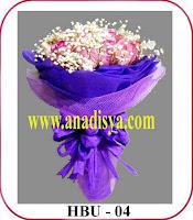hand buket bunga ulang tahun