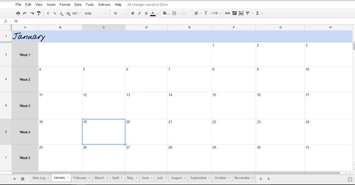 Blogger Tips, Blog Design, Editorial Calendar, Idea Log
