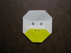 origami instruction com origami duck face