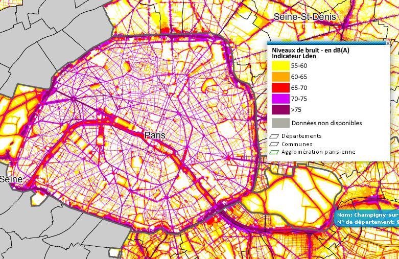noise maps of paris
