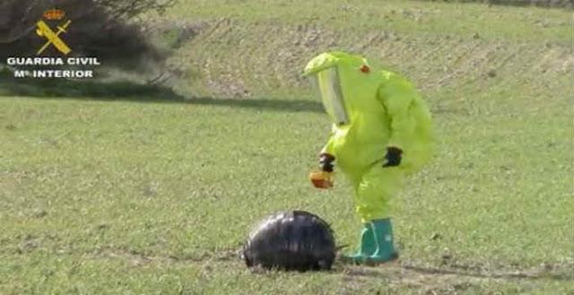 Μυστηριώδης σφαίρα προσγειώθηκε σε χωράφι στην Ισπανία