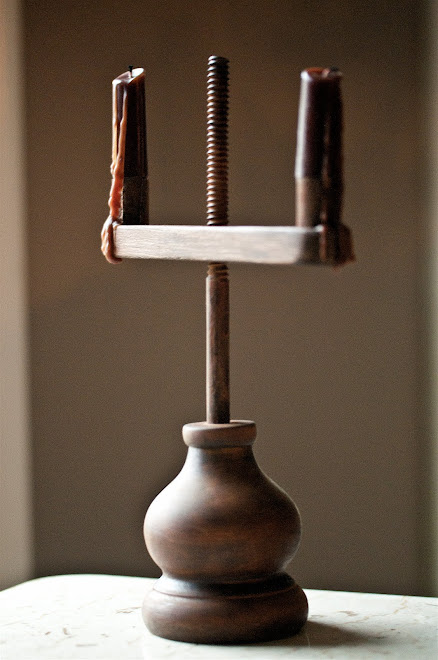 "MAKE-DO ADJUSTABLE CANDLE HOLDER, ATTIC FINISH, 12 1/2""H x 3 1/2""W (base), 8"" (arm), Price $48"