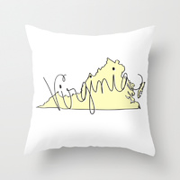 virginia pillow yellow