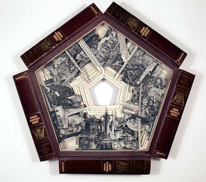 Turning text into art intricately altered books by brian for Dettmer homes