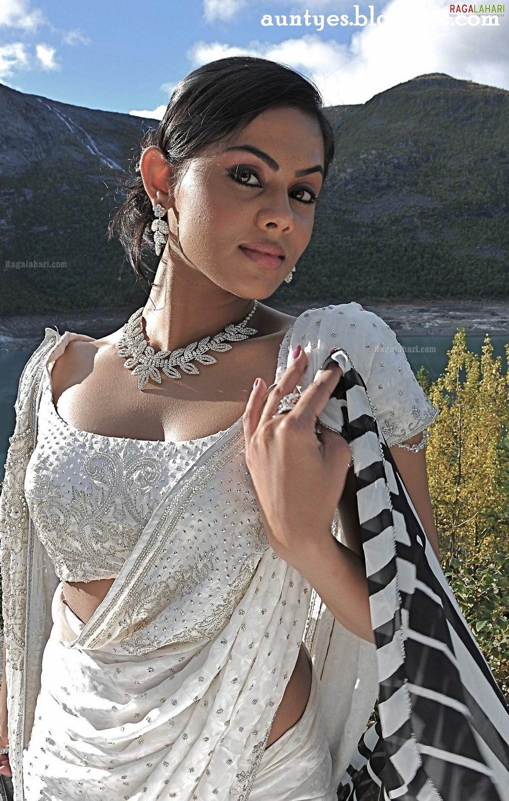 Tamil actress Karthika Nair Cleavage