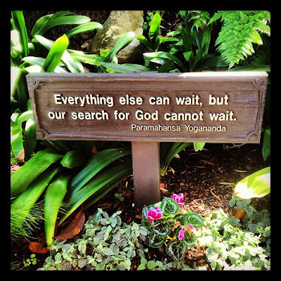 Everything else can wait, but our search for god cannot wait.