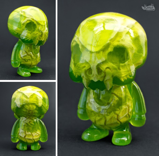 Green Infected Young Gohst Resin Figure by Scott Wilkowski & Ferg