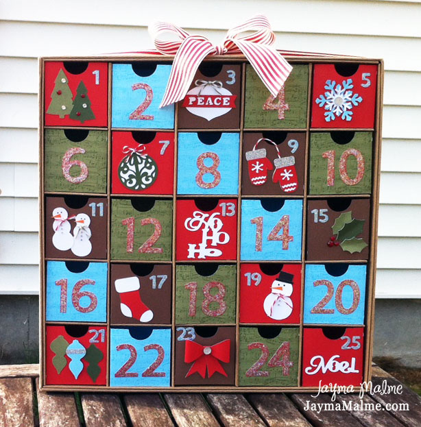 Calendar Kit Ideas : Playing with paper scrapbooks cards diy advent