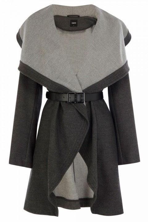 Double Tone Drape Coat