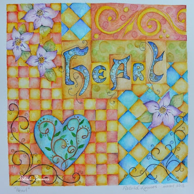 "Aquarel ""Heart"""