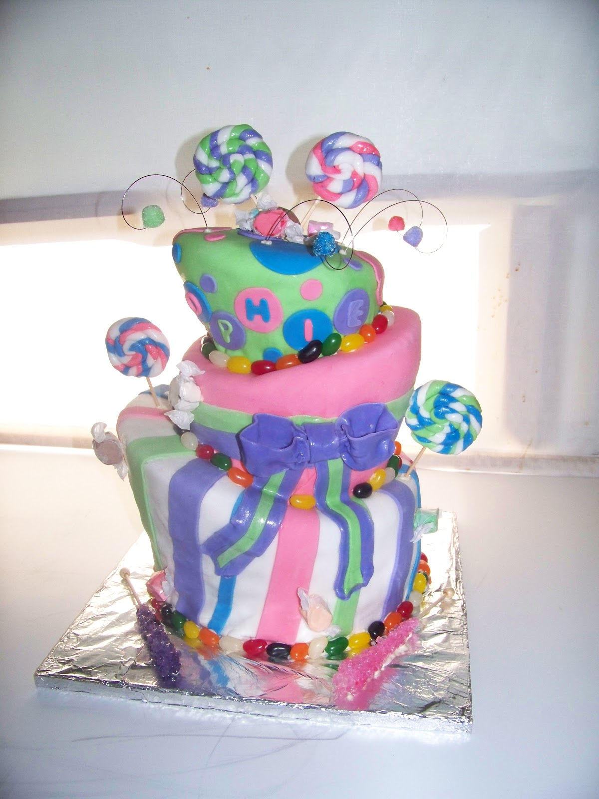 Candy Themed Birthday Cake  Michelles Creative Cakes