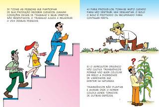 imagem da cartilha do Ministério da Agricultura sobre os benefícios dos produtos orgânicos - ilustração de Ziraldo