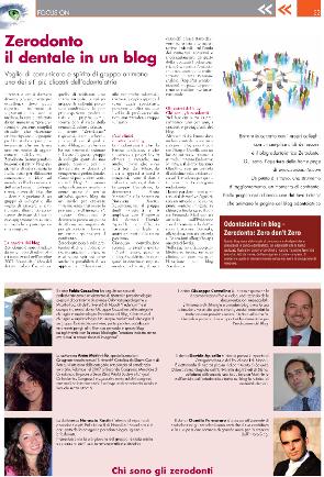 ARTICOLO sul BLOG tratto dall' ITALIAN DENTAL JOURNAL 05/2009