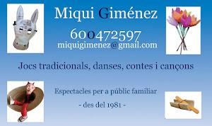 Miqui Giménez. JOCS-CONTES-MÚSICA