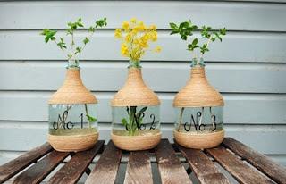 Diy c mo decorar floreros - Que hacer con botellas de vidrio ...