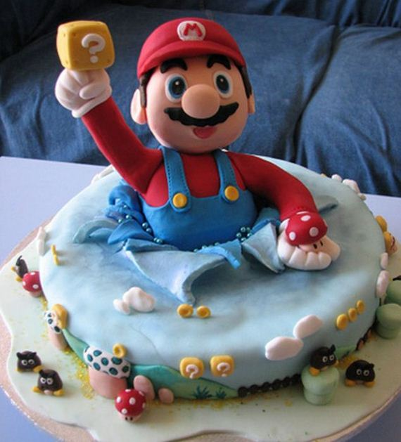 Super Mario Birthday Cakes