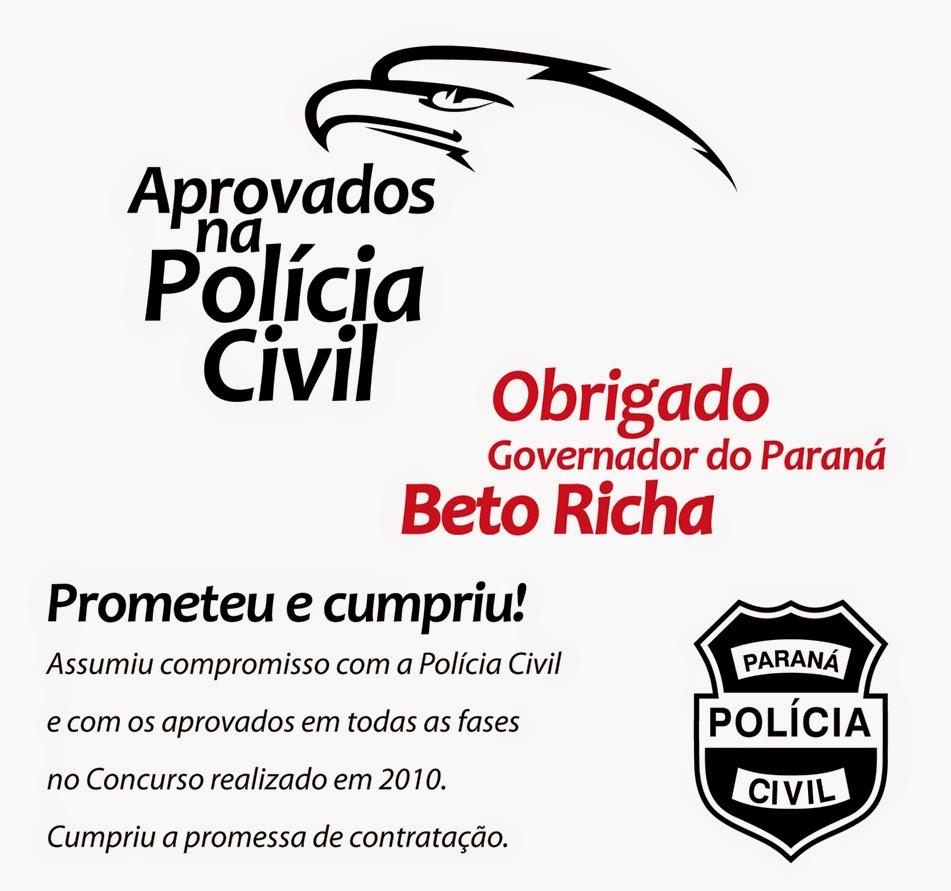 Aprovados no concurso da Polícia Civil do Paraná