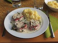Petersilienfilet mit Kartoffelpüree