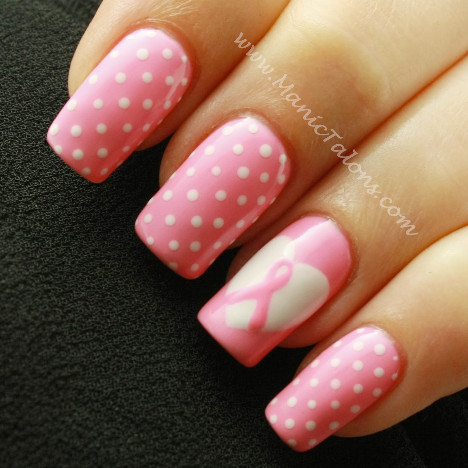 Manic Talons Nail Design: Weekly Mani: Breast Cancer Awareness with ...