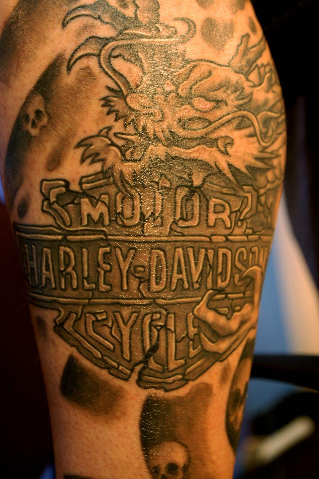 Harley Davidson Eagle Tattoo Free Hd Wallpaper