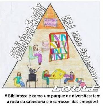 Logótipo e Slogan da Biblioteca EB1 Mãe Soberana