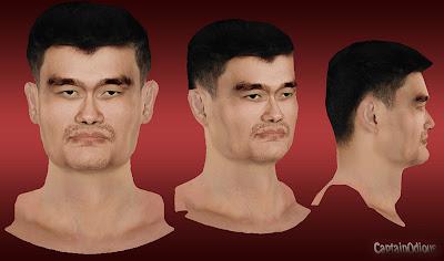 NBA 2K13 Yao Ming Cyberface Mod