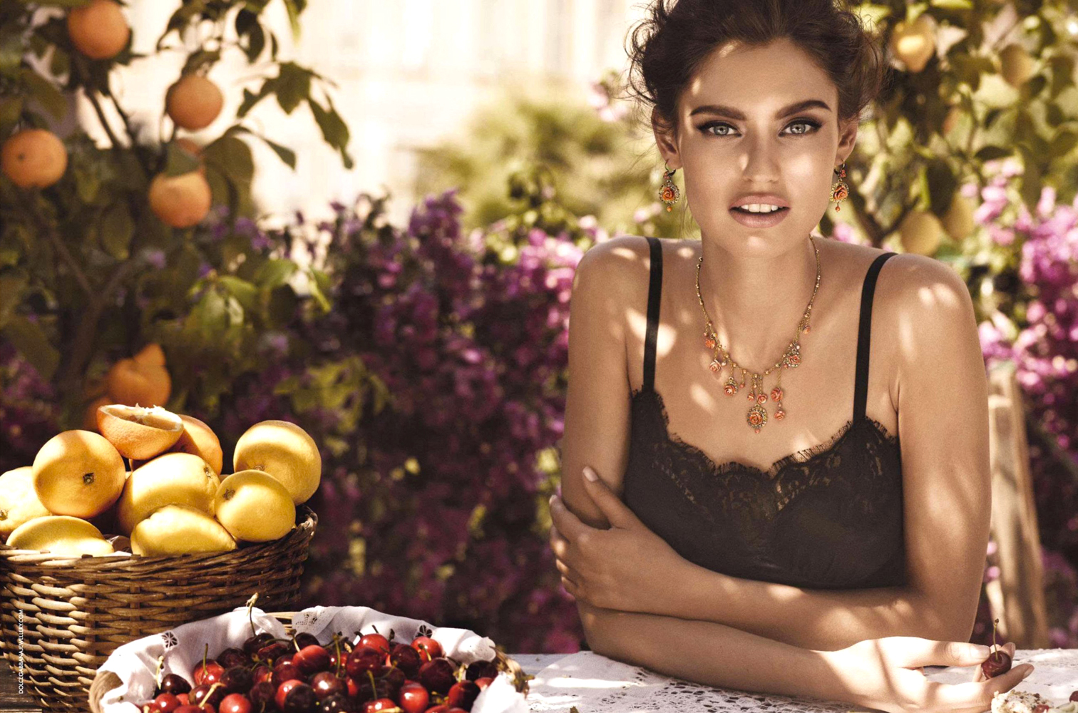 Bianca Balti in Dolce & Gabbana Jewellery 2012 campaign