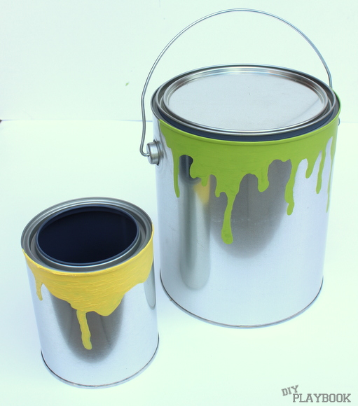 Two paint can planters came together super fast.