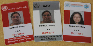 Cornejo assisted at international conferences on shipping, nuclear technology and international crime issues.