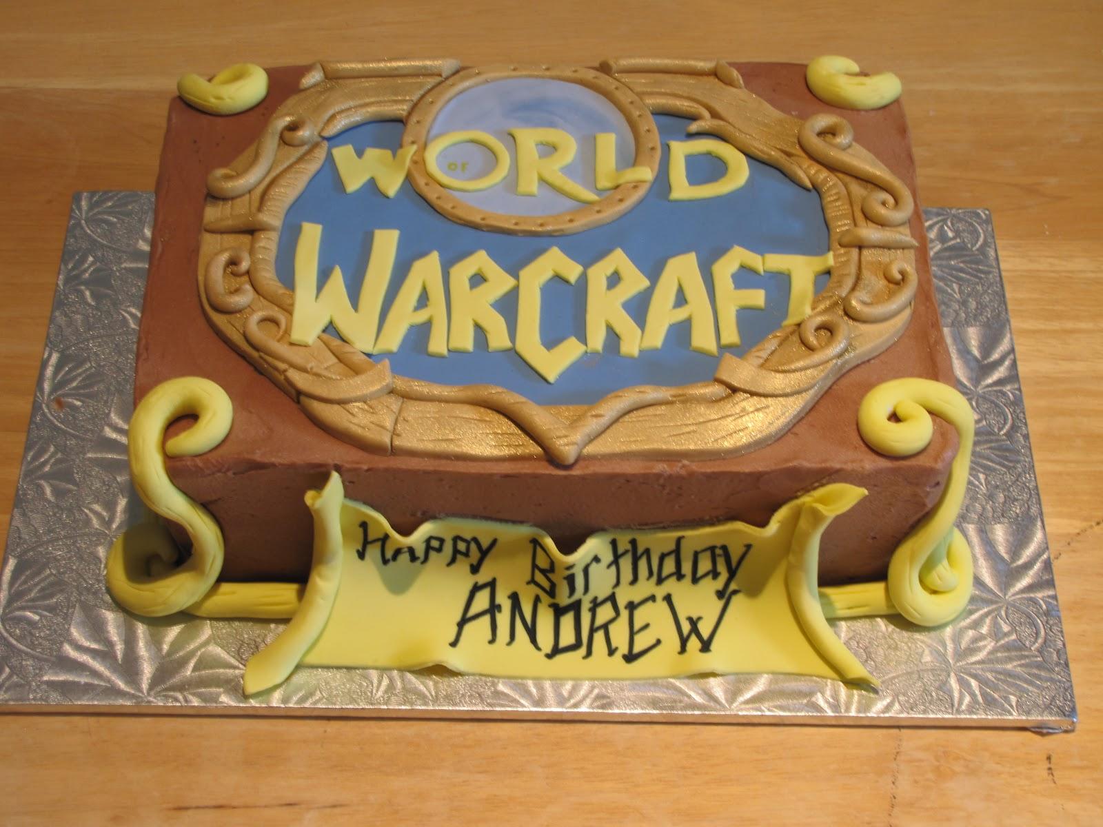 warcraft birthday cake