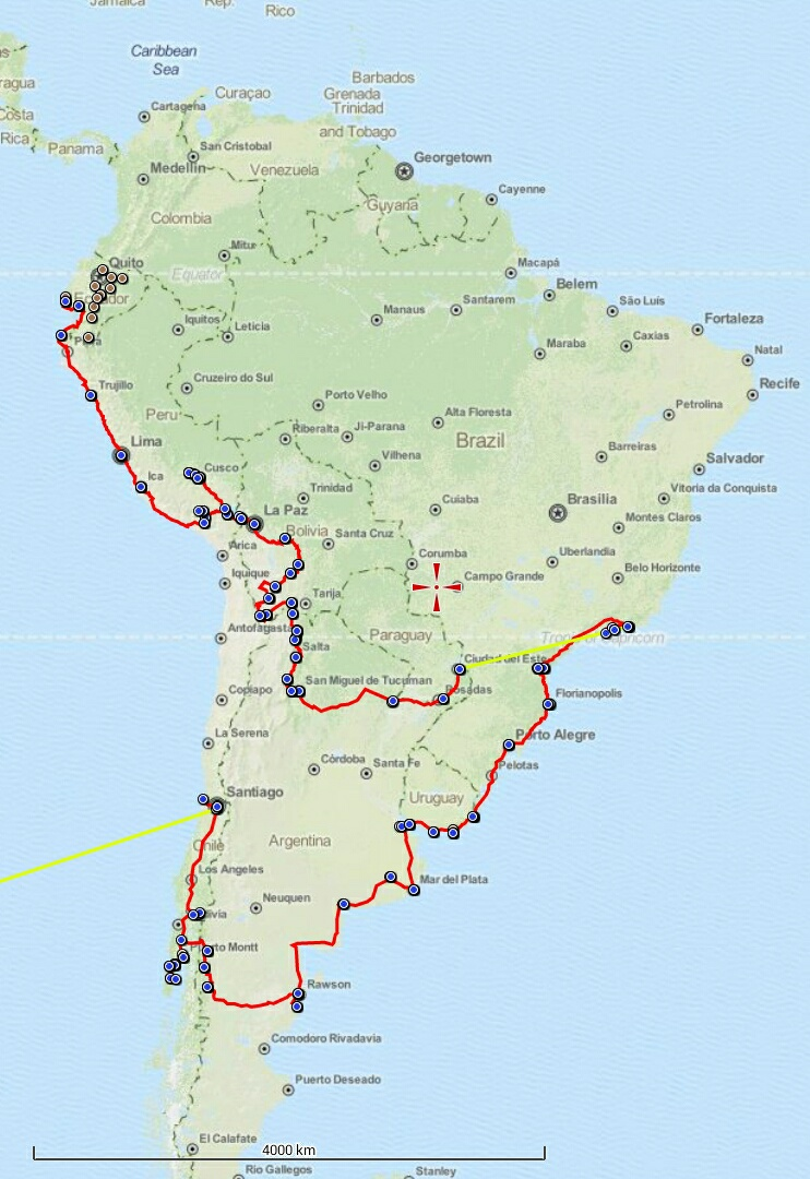 our journey through South America so far