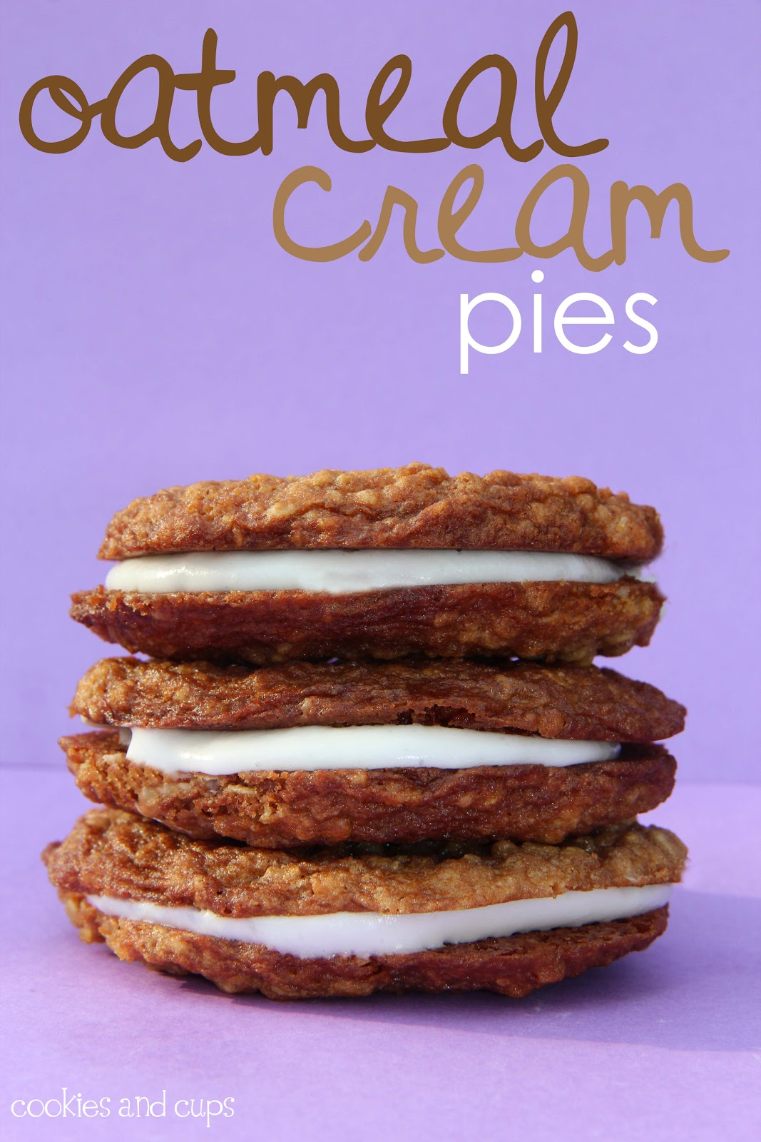 Cookies and Cups Oatmeal Cream Pies