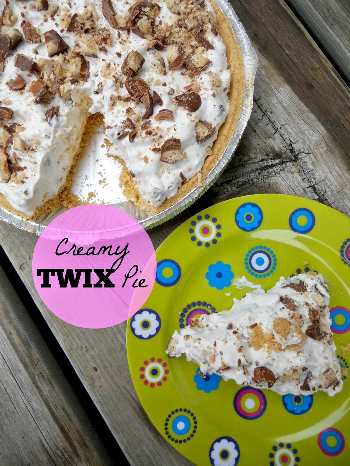 creamy twix pie